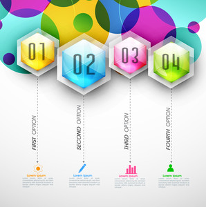 Business Infographic layout with web icons and numbers.