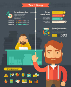 Business Infographic Template. Vector Customizable Elements.