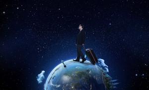 business men travel the world concept