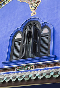 Cheong Fatt Tze's Blue Mansion in Georgetown, Penang, Malaysia.
