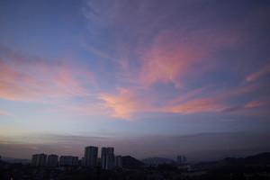 City skyline silhouette Kuala Lumpur