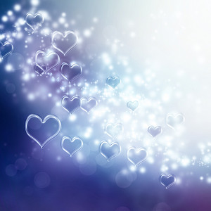 Clear shiny hearts background (purple and blue)