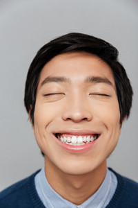 Close up portrait of asian man