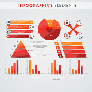 Collection of various infographics elements for your business and corporate purpose.
