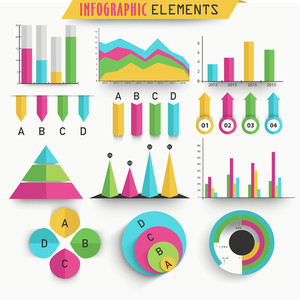 Colorful Business Infographic element on glossy background for your professional presentation.