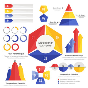 Colorful Business Infographic elements for your professional reports and presentations.