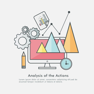 Colorful creative Infographic elements for analysis Business plans and actions concept.