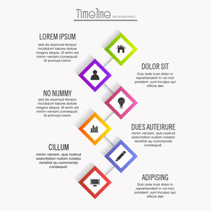 Colorful infographic template layout with web symbols for Business reports and presentation.