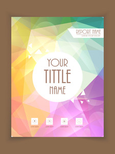 Colorful professional flyer, template or brochure design for business reports.