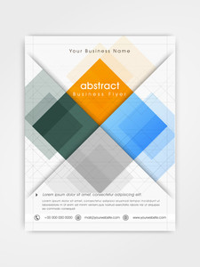 Colorful professional flyer, template or brochure design for professional presentation.