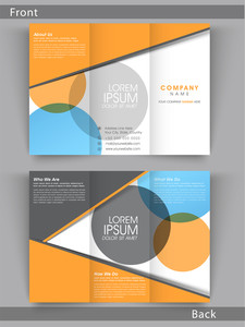 Colorful Tri Fold flyer, template or brochure design with place folder, Including front and back side presentation.