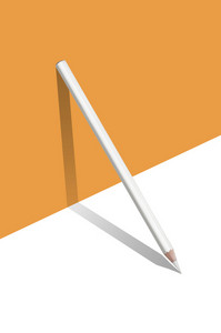 composition of Orange and white color pencils