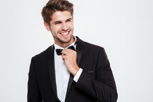 Confident businessman. smiling
