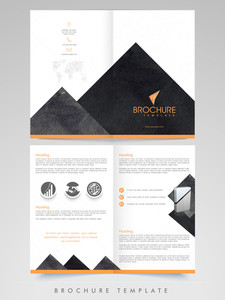 Creative abstract Brochure, Template or Flyer presentation for your Business or Corporate sector.