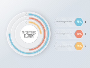 Creative Business Infographic Elements with colorful pie chart for professional report and presentations.