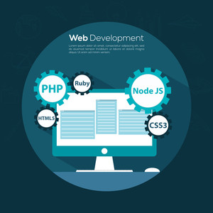 Creative Business Infographic layout for Web Development, Management and Programming concept.