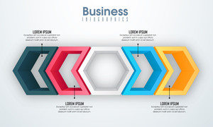 Creative Business Infographic layout with colorful 3D elements for professional report and presentation concept.
