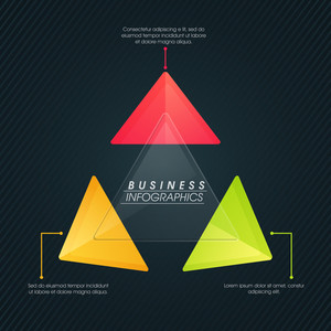 Creative Business Infographic layout with colorful triangles for your professional presentation.
