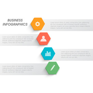 Creative business infographic template layout with web symbols.