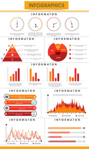 Creative business infographics template with statistical graphs, pie charts and paper bars to present your data in effective way.