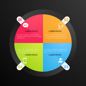 Creative colorful infographic element for your Business presentation.