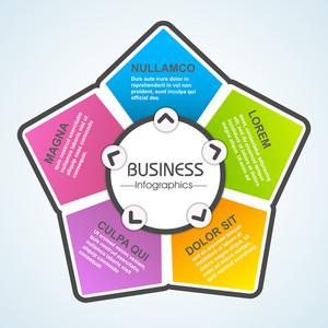 Kreative bunte Infografik Element Layout für Ihr Unternehmen.