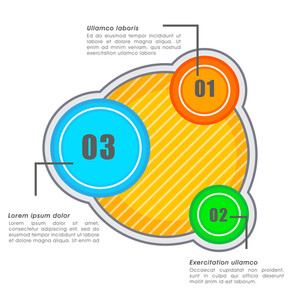 Creative colorful infographic elements for your Business reports and presentation.