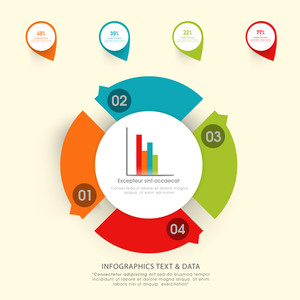 Creative colorful infographic elements for your Business reports and presentations.