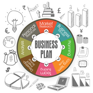 Creative colorful stylish business infographic layout for your best business plan and ideas with various infographic elements.