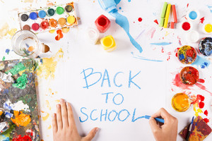 Creative concept with Back to school theme