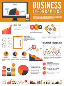 Creative flat statistical infographic template layout for your business reports and presentation.