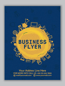 Creative Flyer, Banner or Template design with different elements for Business concept.