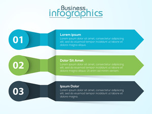 Creative infographic arrows on shiny background for Business purpose.