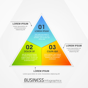 Creative infographic element in colorful triangle shape for your Business.