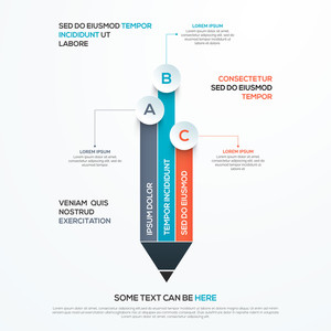 Creative infographic element in pencil shape for Business concept.