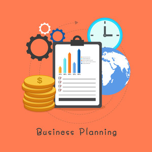 Creative Infographic elements for Business Planning concept.