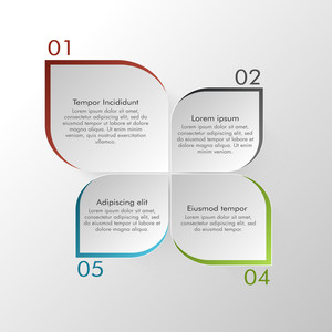 Creative infographic elements with numbers on grey background for Business reports and presentation.
