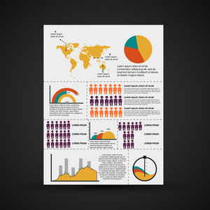 Creative infographic template for business and corporate sector.