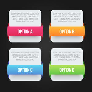 Creative infographics layout with four options for Business concept.