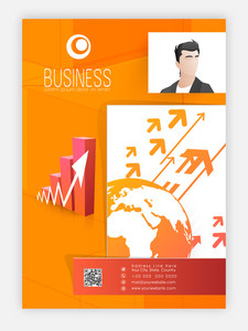 Creative professional Template, Brochure or Flyer design with infographic elements for Business concept.