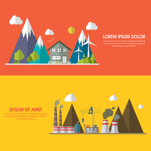 Creative save ecological infographic layout design with showing pollution elements.