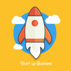 Creative Start Up Business Infographic layout with colorful rocket for growth and progress.