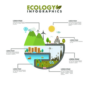Creative stylish save ecological infographic layout for your print, presentation or publications.