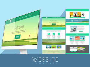 Creative website template layout for different business purpose.