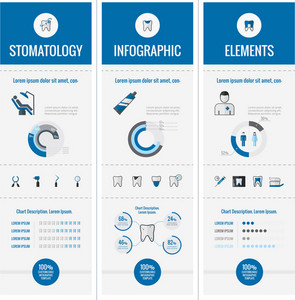 Dental Infographic Template. Vector Customizable Elements.
