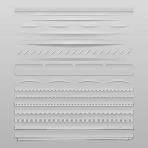 Design elements vector set of high detailed web dividers