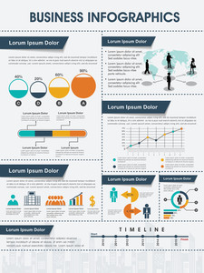 Different infographics set to present your professional data and reports in effective way.