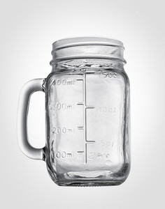 Empty glass isolated on white background. Path