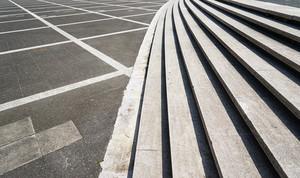 empty ground with steps