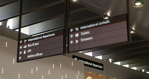 Flights information board .